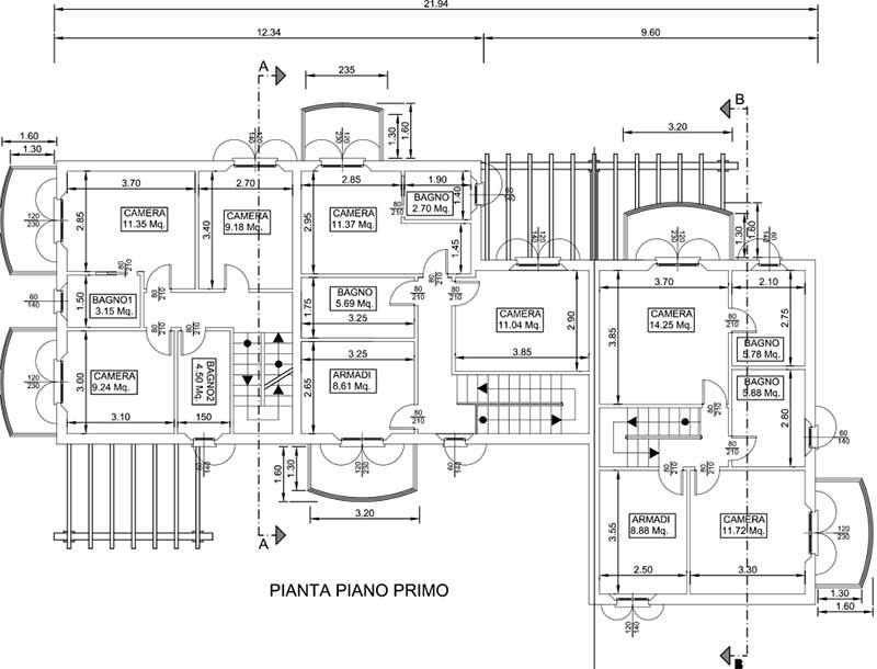 Planimetria Casa Bi/Trifamiliare Rif.MC818