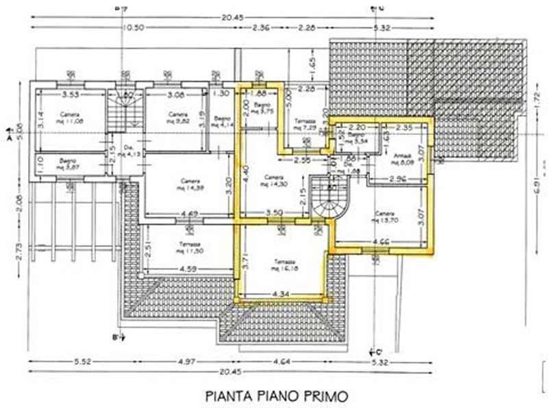 Planimetria Casa Bi/Trifamiliare Rif.F262