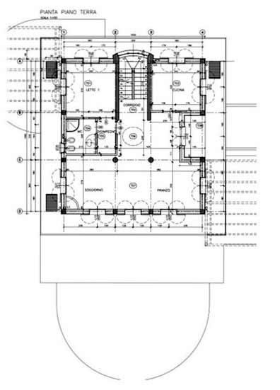 Planimetria Villa con Piscina Rif.F599