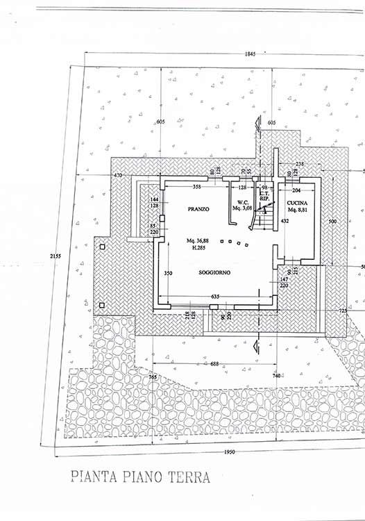 Planimetria Villa Rif.F299
