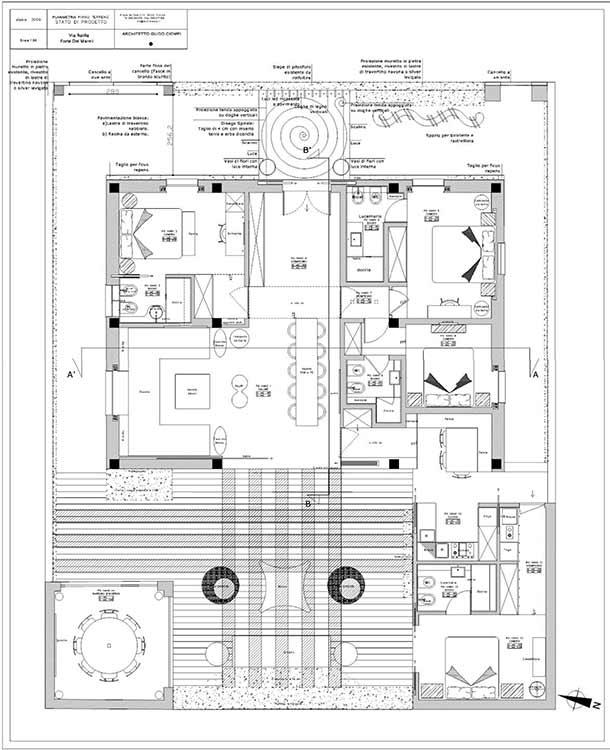 Planimetria Villa Rif.F402