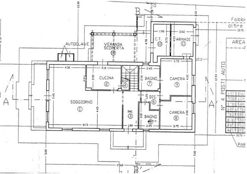 Planimetria Villa Rif.F404