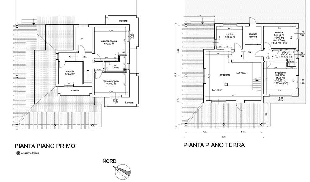Planimetria Villa Rif.F608