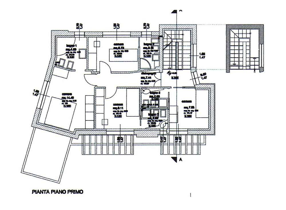 Planimetria Villa Rif.P316