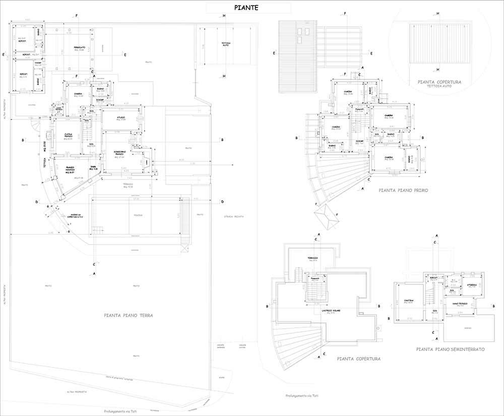Planimetria Villa Rif.P352
