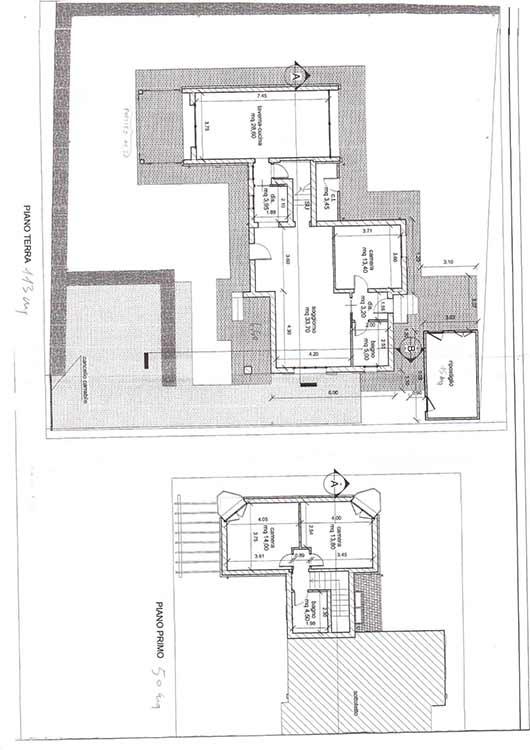 Planimetria Villa Rif.P355