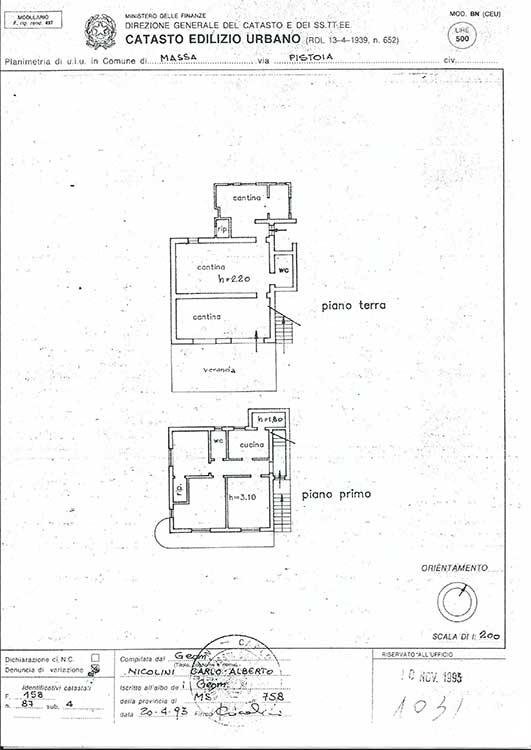 Planimetria Villa Rif.R277